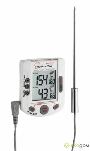 2 in 1 digital meat/oven thermometer 'Kuchen-Chef'
