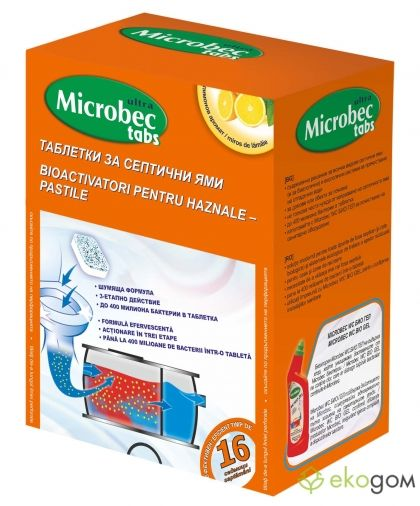 BROS - Microbec septic tank treatment tablet 16x20g