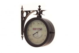 'Nostalgia' wall clock and thermometer